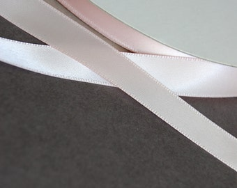 "5yds - 1/2"" Pale Pink SF Satin Ribbon"