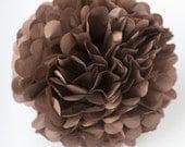 BROWN  color tissue paper PomPom - party pompoms
