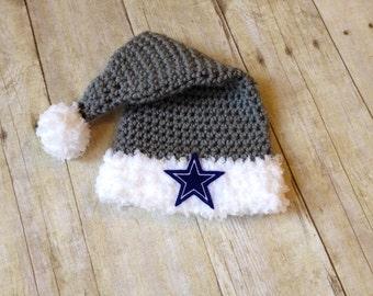 Santa Baby Dallas Cowboy Inspired Newborn Stocking Hat - Ready to Ship