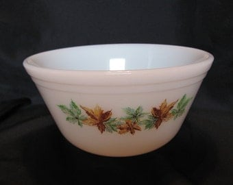 Maple Leaf Bowl by Federal Glass Co