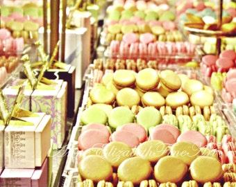 Laduree- Macaron Art-Pastel Paris Print-Paris in Pink-French Macaroons-Pink Nursery-Preppy Paris Decor-Romantic-Dreamy-Sugar-Food-Mint Green