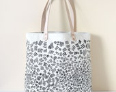 Match Sticks Tote Bag - Natural w/ Black