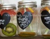 Mason Jar Labels, Wedding Favor Labels, Wedding Labels, 50 BLANK Chalkboard Labels for Mason Jars, Rustic Wedding, Wedding Favor Tags