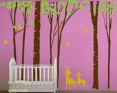 Forest Decals wall stickers  Kids wall decals baby decal nursery decal room decor wall decor wall art -deer forest