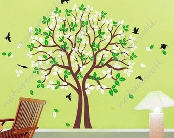 Vinyl wall decals tree decals wall stickers baby decal nursery decal room decor wall decor murals graphic- love trees