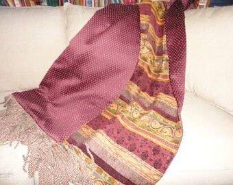 Cabernet Wine Chenille Throw Blanket, Decorator Throws, Custom Throw, Blankets Quilts, Luxury Bedding, Burgundy Gold Moroccan, Royal Throws