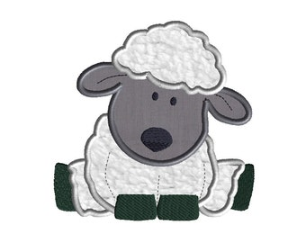 Sheep Applique Machine Embroidery Design-INSTANT DOWNLOAD