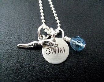 swimmer jewelry swim like a necklace swimming jewelry necklace on 18 9786