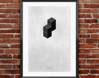 "Tetris inspired print 11X17"""