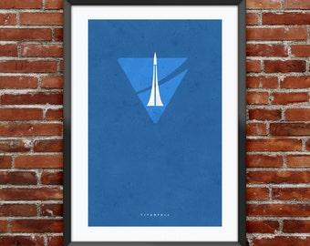 "Titanfall IMC inspired print 11X17"""