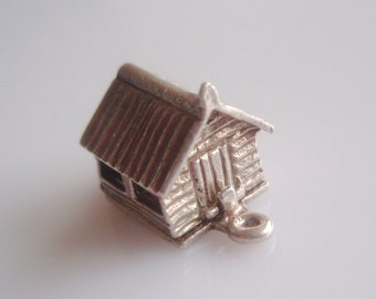 Silver Garden Shed and Lawn Mower Opening Charm