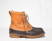 Women's LL Bean Maine Hunting Shoe Short Duck Boots Rain Boot size 7 Ladies