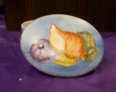 Hand Painted Sea Shell Trinket / Jewelry Box, ocean beach coral reef