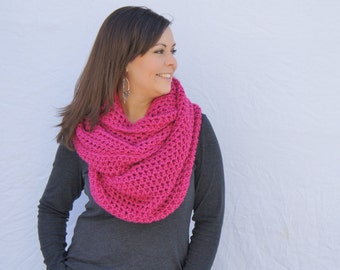 oversized infinity blanket scarf shoulder wrap hood - raspberry