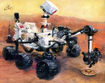 Canvas Print / Curiosity Rover Discovers Breakfast On Mars