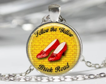 Follow The Yellow Brick Road Necklace Oz Jewelry Wearable Art