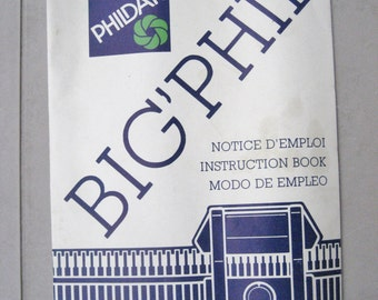 Phildar Big Phil Knitting Machine Instruction Book Manual English and French Instructions