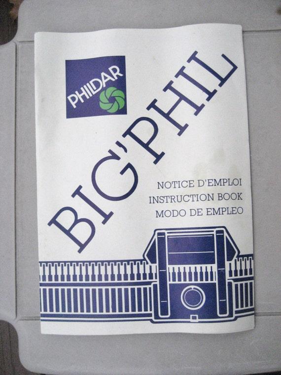 phildar big phil knitting machine instruction book manual. Black Bedroom Furniture Sets. Home Design Ideas