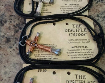 The DISCIPLE'S CROSS pendant naclace. Pink
