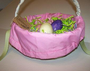 Personalized Pink  Basket Liner