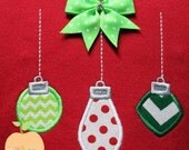 Ornament Trio Applique Machine Embroidery Design Buy 5 for 8! Use Coupon Code SUMMERFUN