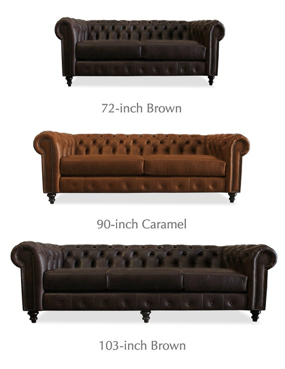 Trento Tufted Leather Sofa By Southcone On Etsy
