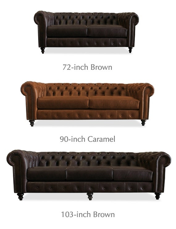 100 Percent Genuine Leather Sofa Trento Tufted Leather Sofa By Southcone On  Etsy .