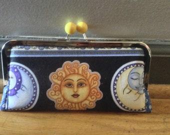 Sun Moon wallet clutch