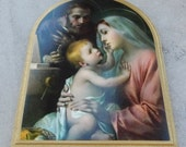 Holy Family by Adolfo Simeone L-232-81  Goldscheider Of Vienna Made In Italy