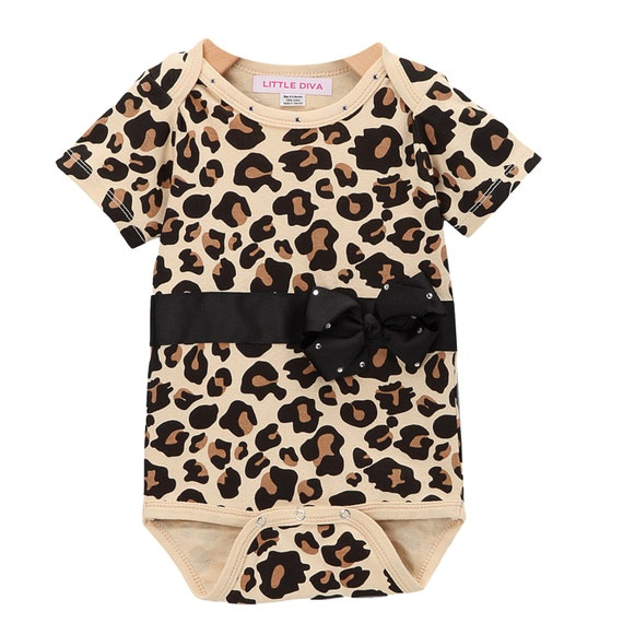 Items similar to Leopard Bodysuit with Black Belt and
