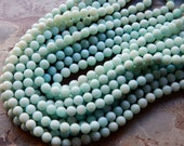 8mm A Grade Amazonite Polished Round Semi-Precious Beads, Half Strand (IND1C845)