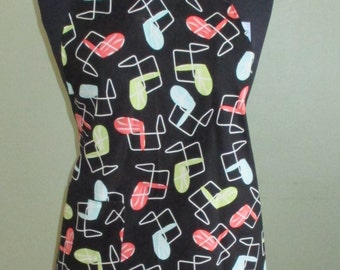 Fun Retro Apron in Fabulous Metal Lawn Chairs Mid Century Modern by Michael Miller, Reversible