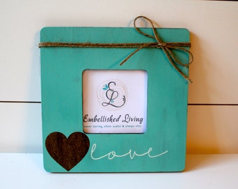 Customizable Rustic Wooden Picture Frame. Love.