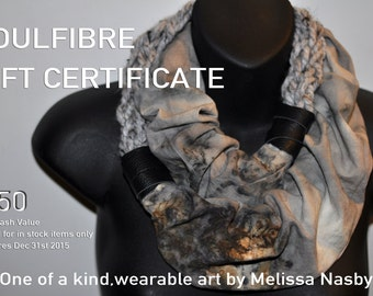 SoulFibre Studio Gift Certificate - Fifty Dollars