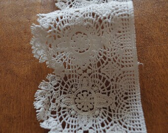 Cotton Lace Trim, crochet lace trim, guipure lace trim