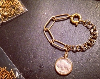 Buffalo Nickel Bracelet, Bangle