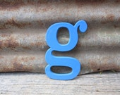 Vintage Letter Sign Lower Case 6 Inch Letter g Sign Blue Plastic Letter Sign Display Marquee Alphabet vtg Letters Wall Art Pop Art Retro