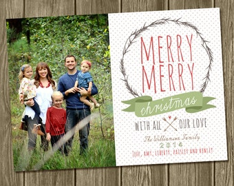 Christmas Photo Card - Merry Merry