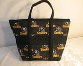 Pittsburgh Steeler quilted handbag, tote, bookbag, diaper bag.