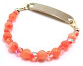 Free Shipping - Orange Stretchy Medical Bracelet Attachment