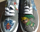 Hand-painted Legend of Zelda Shoes- every side painted