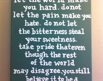 Beautiful Place - Kurt Vonnegut - Painted Quote Canvas - Gift - Green