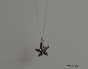 Seashell Jewelry ... Simple Layering Starfish Necklace (1242)