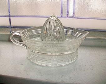 Vintage Pressed Glass Reamer Juicer 1940s