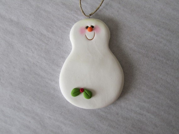 polymer clay snowman ornament. Black Bedroom Furniture Sets. Home Design Ideas