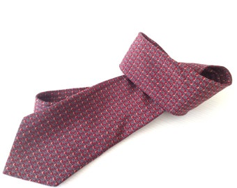 ermenegildo zegna necktie, vintage tie,  red  tie, silk tie, high fashion tie,  made in italy