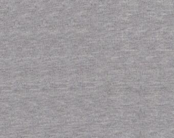 "60"" Heather Grey Interlock Knit Fabric-12 Yards By The Bolt"