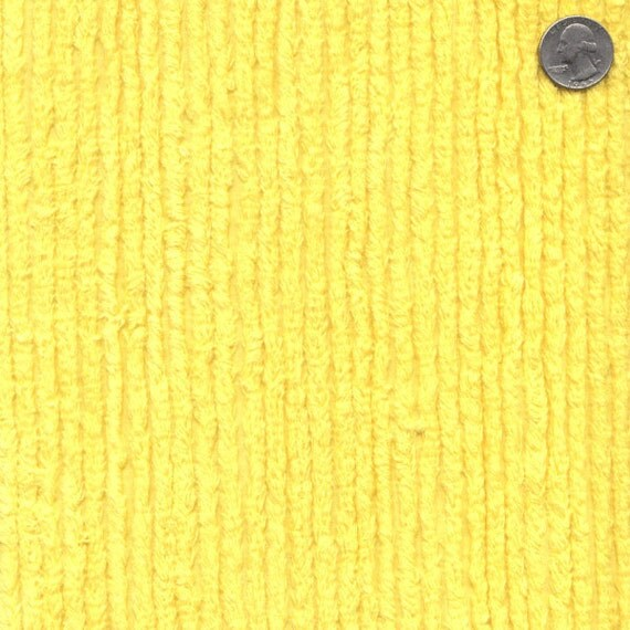 56 Wide Cotton Chenille Sunburst Yellow By The Yard