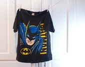 1988 Batman Face T shirt - DC comics mask Tshirt - Vintage