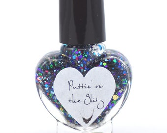 Puttin' On The Glitz Glitter Nail Polish 5ml Mini Bottle